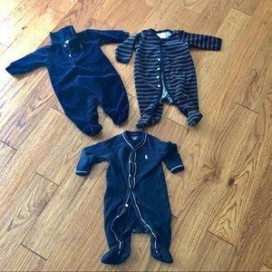 Ralph Lauren footies baby boy bundle 3 month